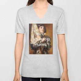 Joan of Arc is Fading Unisex V-Neck