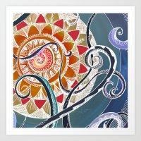 lotus Art Prints featuring Lotus by brenda erickson