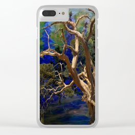 CONTEMPORARY BLUE  WILDERNESS ART  DESIGN Clear iPhone Case