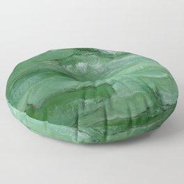 Jade - Original Art (encaustic painting) Floor Pillow