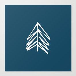 Pacific Northwest Evergreen   In Indigo Canvas Print