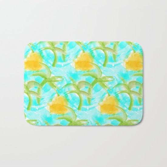 Tropical Abstract Bath Mat