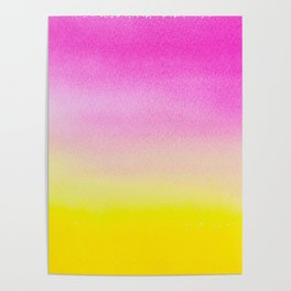 Abstract painting in modern fresh colors Poster