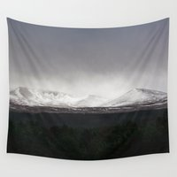 scotland Wall Tapestries featuring Mountains Of Scotland  by Robert Payton