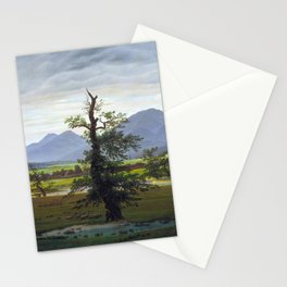 Village Landscape in Morning Light (The Lone Tree), 1822 Stationery Cards