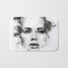 Woman Portrait Bath Mat
