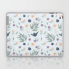 Blue florals Laptop & iPad Skin