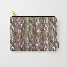 Rainbow Abalone Glass Tile Texture Carry-All Pouch