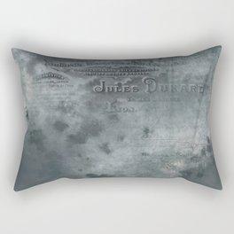 Dark grey letter vintage batic look Rectangular Pillow