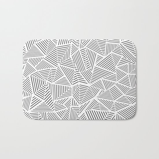 Abstraction Linear Inverted Bath Mat