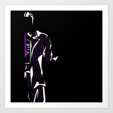Purple and White: Two Face's Delight Art Print