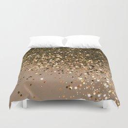 Sparkling Gold Brown Glitter Glam #1 (Faux Glitter) #shiny #decor #art #society6 Duvet Cover