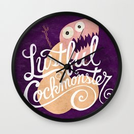 Lustful Cockmonster Wall Clock