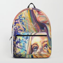 Saint Claire of Assisi, potrait Backpack