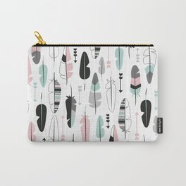 Arrows and feathers summer pattern Carry-All Pouch