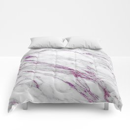 Gray and Ultra Violet Marble Agate Comforters