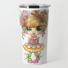 Sherri Baldy My Besties Sugar Plum Treats Big Eyed Art Travel Mug