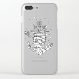 Master of my fate, captain of my soul Clear iPhone Case