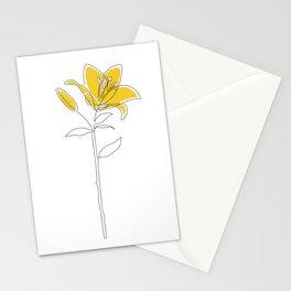 Mustard Lily Stationery Cards