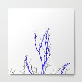 TWILIGHT WINTER TREE BRANCHES Metal Print
