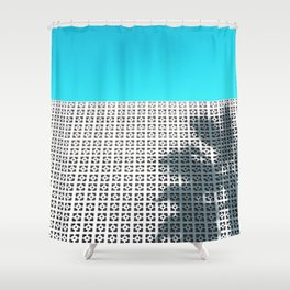 Parker Palm Springs with Palm Tree Shadow Shower Curtain