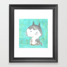 Big head cat Framed Art Print