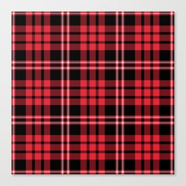 Red & Black Tartan Plaid Pattern Canvas Print