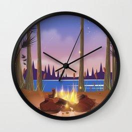 Voyageurs National Park Minnesota travel poster Wall Clock