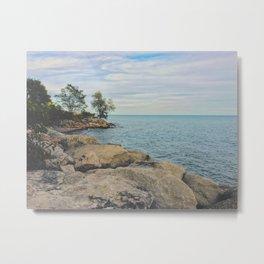 The Rocky Horizon Beach Metal Print