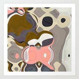 Mid Century Modern RETRO Abstract Pattern Geometric Art by Michel Keck Art Print