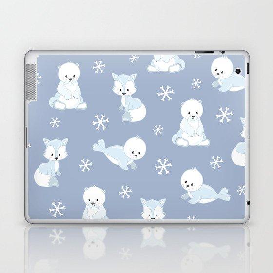 ARCTIC FRIENDS (blue) Laptop & iPad Skin