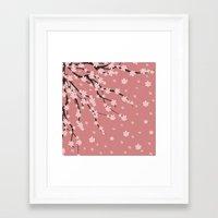 sakura Framed Art Prints featuring Sakura by Julia Badeeva