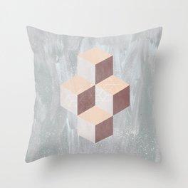 four cubes sixteen diamonds Throw Pillow