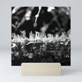 Ice textures Mini Art Print