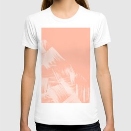 Sweet Life Paint Swipes Peach Coral Pink T-shirt