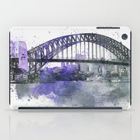 sydney iPad Cases featuring Sydney Harbor Bridge II by LebensART
