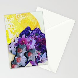 Garden Circle - Bright Yellow Stationery Cards