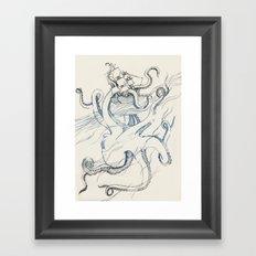 Kraken Framed Art Print