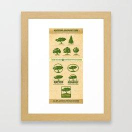 Vector Tree Framed Art Print