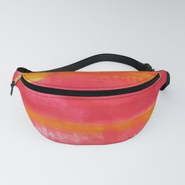 'Summer Day'  Orange Red Yellow Abstract Art Fanny Pack