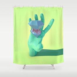 Purple Gusher Shower Curtain