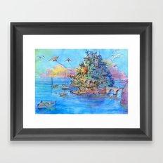 Paesaggio di fantasia Framed Art Print
