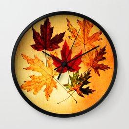 fallen leaves I Wall Clock