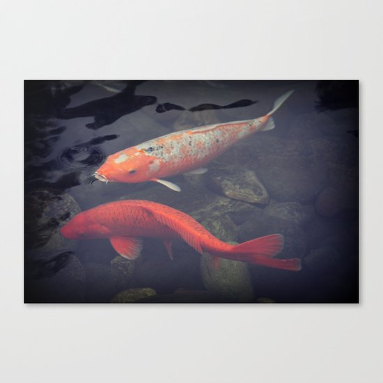 Koi fish canvas print by kunstfabrik staticmovement manu for Koi canvas print