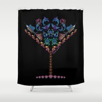 martini Shower Curtains featuring Marine Martini by artsytoocreations