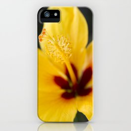 Boreas Tropical Hibiscus Lemon Drop iPhone Case