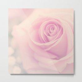 Vintage rose - Beautiful lightpink flower -Roses Metal Print