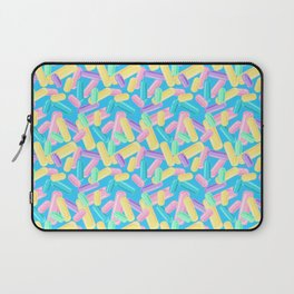 Pastel Jimmy Candy Pattern on Blue Laptop Sleeve