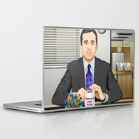 michael scott Laptop & iPad Skins featuring Steve Carell as Michael Scott (The Office) by Leo Maia