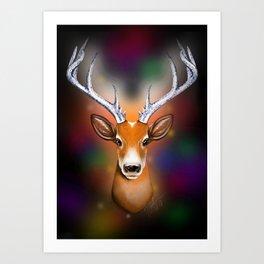 Christmas Woodland Beast Art Print